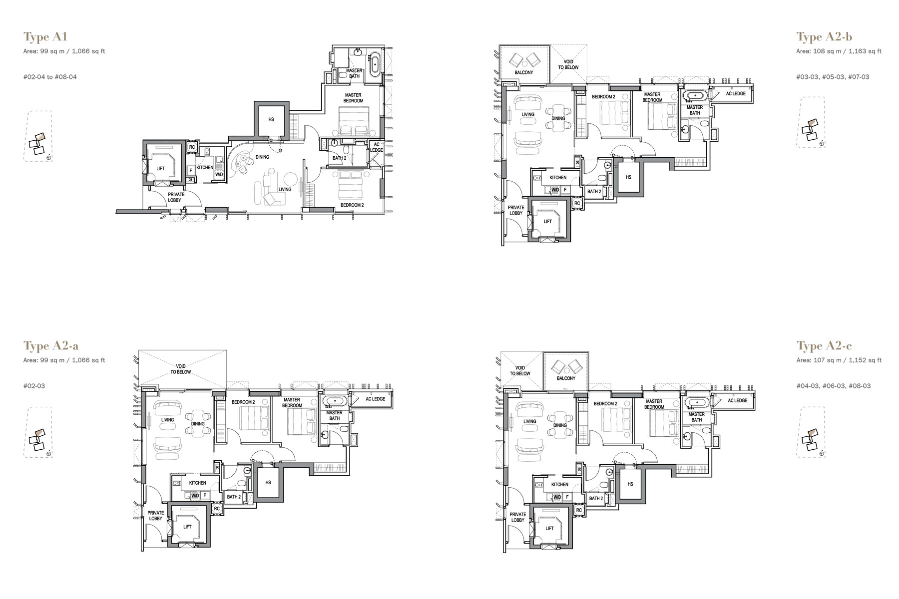3 orchard by the Park 2 bedroom floorplan by jessicasiow.com