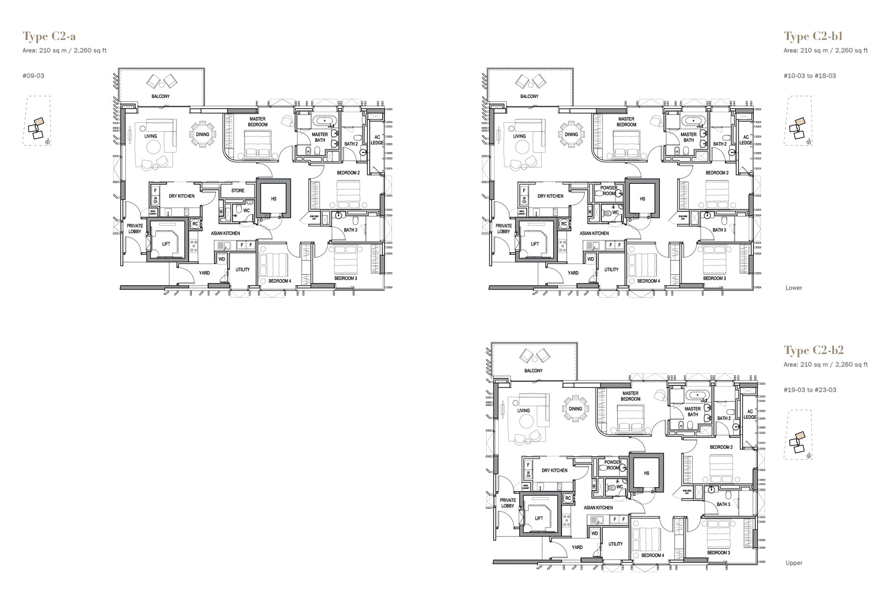 3 orchard by the Park 34 bedroom floorplans by Jessicasiow.com