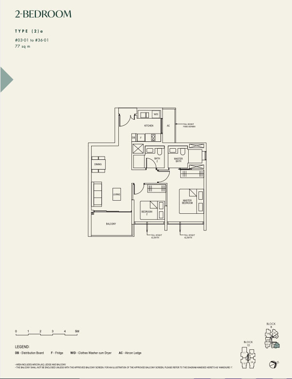 The Avenir 2 bedroom 2a by Jessica Siow
