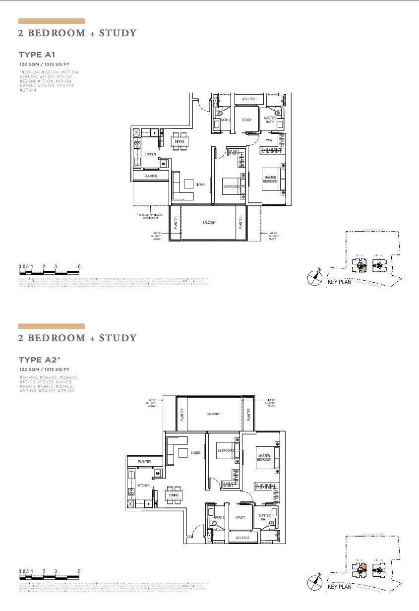 Boulevard88 2+study floorplan