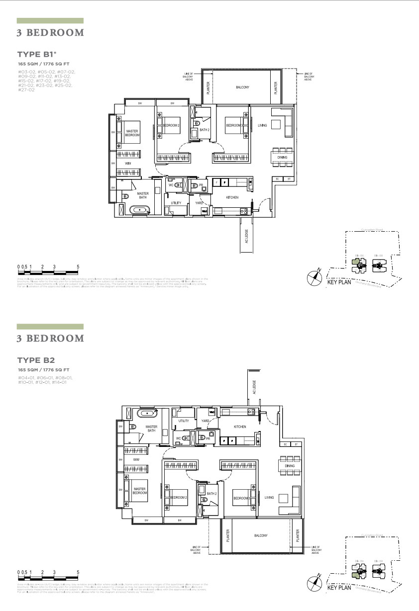 Boulevard88 3 bedroom floorplans