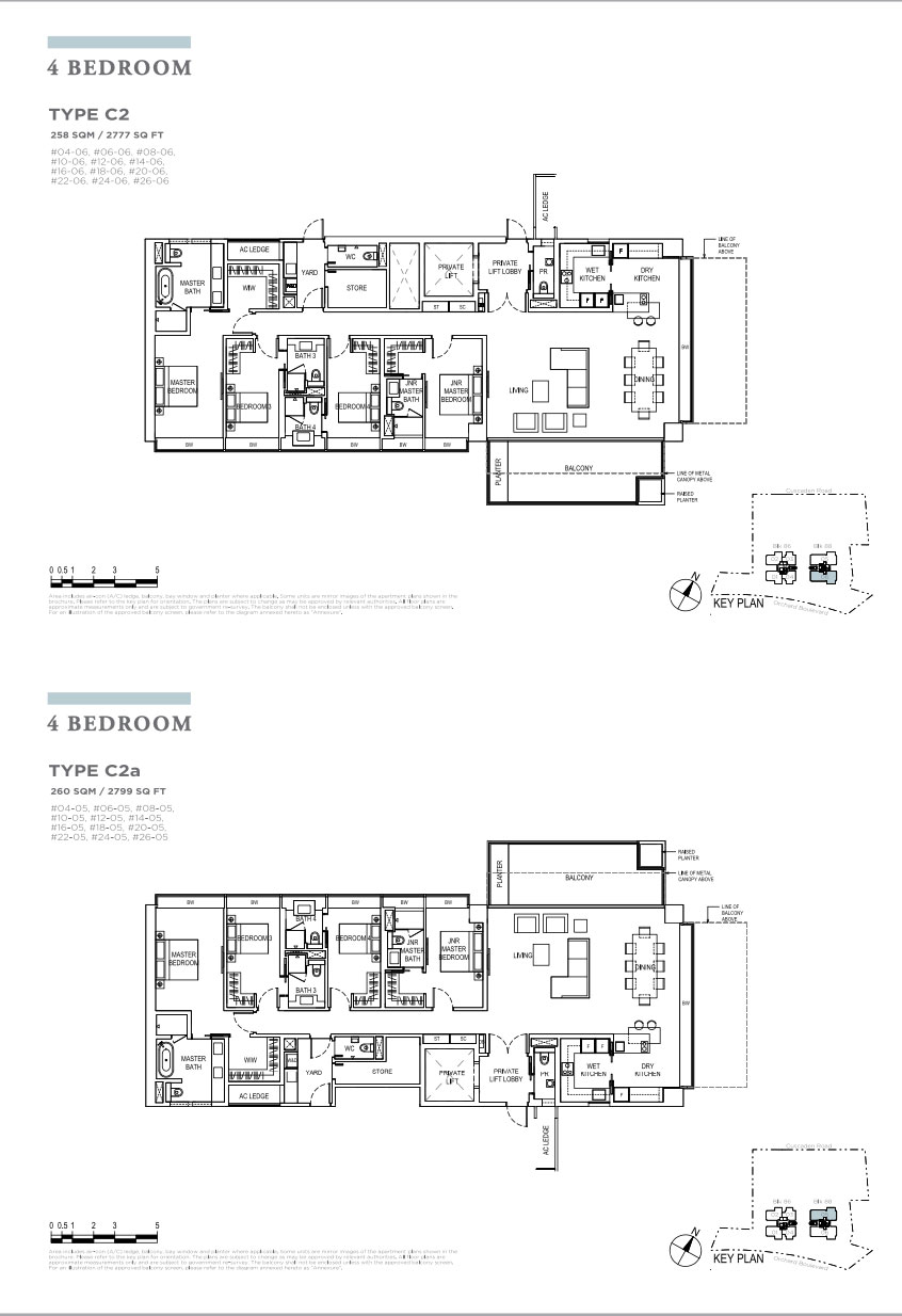 Boulevard 88 4 bedroom floorplans