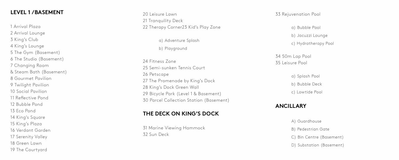 The Reef at King's Dock Siteplan details