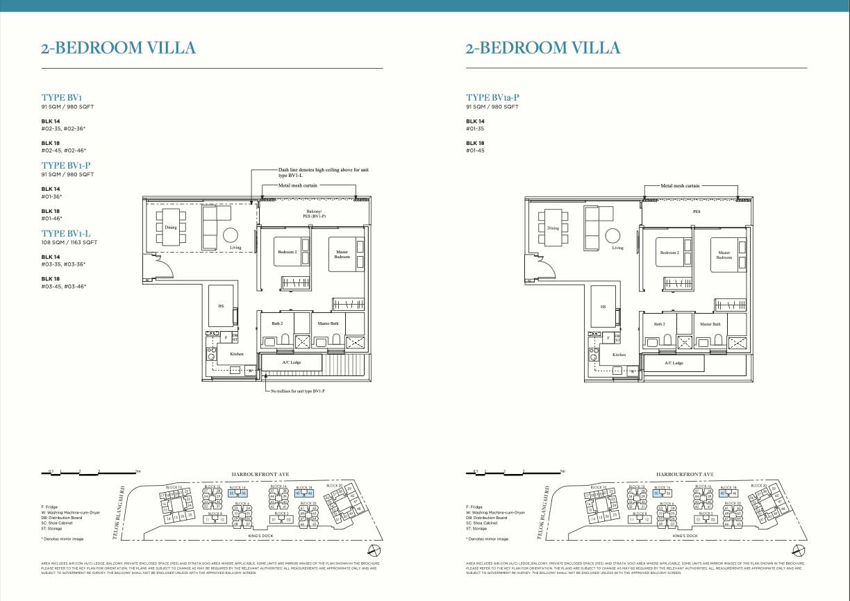 The Reef 2 bedroom Villa