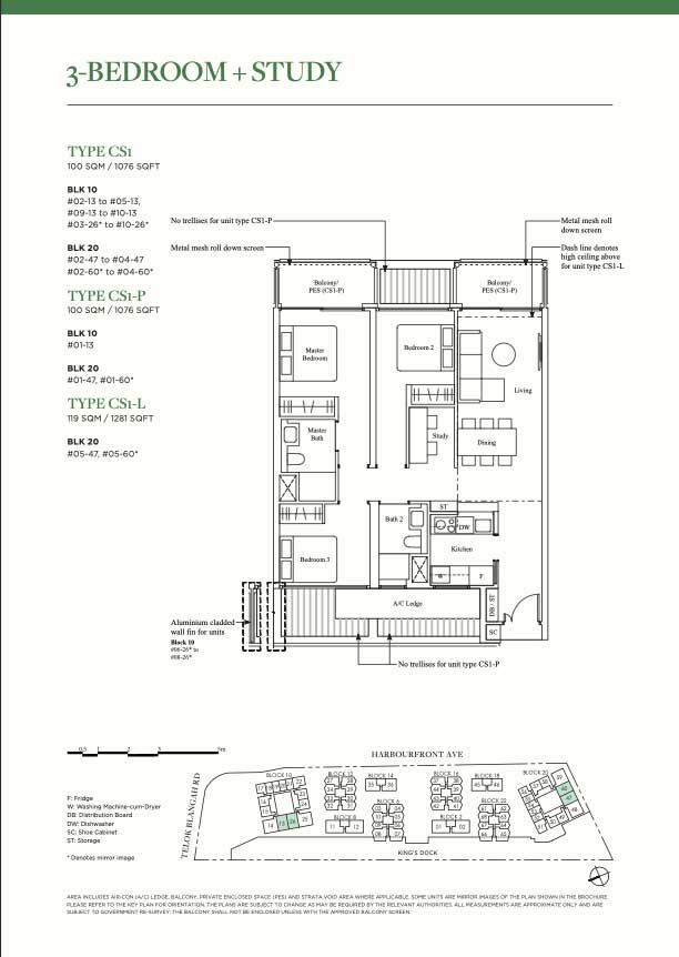 The Reef 3 bedroom + study