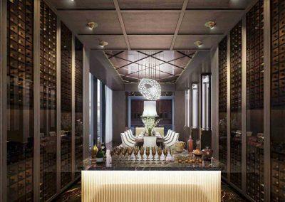 Wallich Residence Super Penthouse Bottle Wine Cellar