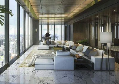 Wallich Residences Super Penthouse Living Room